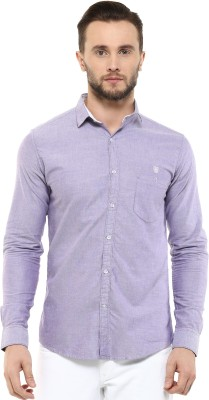 Speak Men's Solid Casual Purple Shirt at flipkart