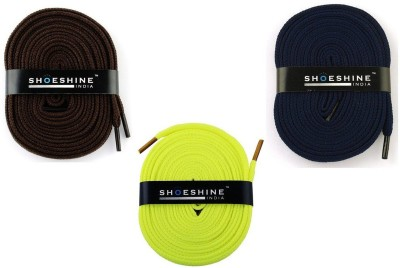 Shoeshine India sports & sneaker shoes laces 120cm S8 flat Shoe Lace(Multi Set of 3)  available at flipkart for Rs.175