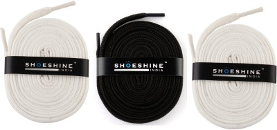 Shoeshine India sports shoes laces 120cm Z6 flat Shoe Lace(Multi Set of 3)  available at flipkart for Rs.195