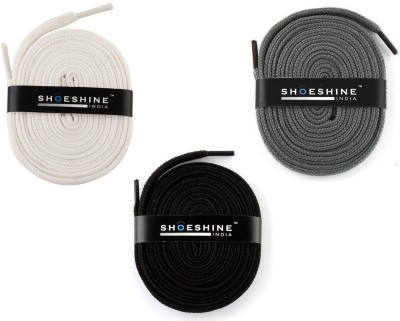 Shoeshine India sports shoes laces 120cm Z1 flat Shoe Lace(Multi Set of 3)  available at flipkart for Rs.195