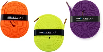 Shoeshine India sports & sneaker shoes laces 120cm S5 flat Shoe Lace(Multi Set of 3)  available at flipkart for Rs.175