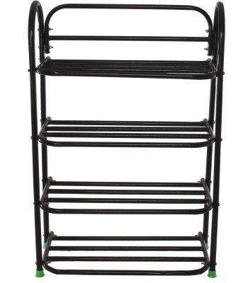 Benesta Steel Shoe Cabinet(Black, 4 Shelves)