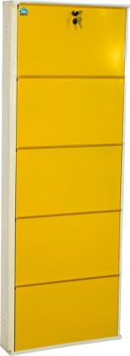 Delite Kom Metal Shoe Cabinet(Yellow, 5 Shelves)