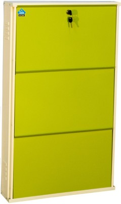 Delite Kom Metal Shoe Cabinet(Green, 3 Shelves)