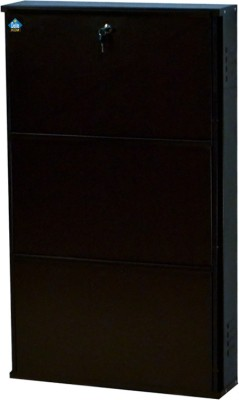 Delite Kom 24 Inches wide Three Door Powder Coated Wall Mounted Metallic Coffee Metal Shoe Rack(Brown, 3 Shelves)  available at flipkart for Rs.4332