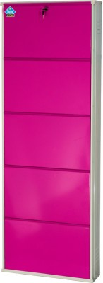 Delite Kom Metal Shoe Cabinet(Pink, 5 Shelves)