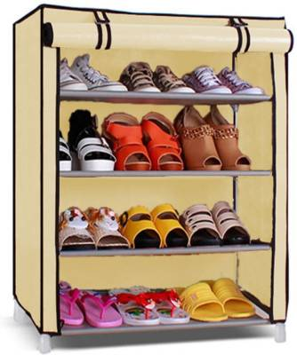 Pindia 4 Layer Design Rack Organizer Polyester Collapsible Shoe Stand