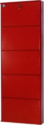 Delite Kom Metal Shoe Rack(Red, 5 Shelves) at flipkart