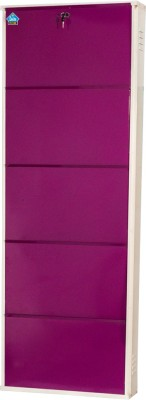 Delite Kom Metal Shoe Cabinet(Purple, 5 Shelves)