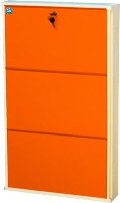 Delite Kom 24 Inches wide Three Door Powder Coated Wall Mounted Metallic Ivory Orange Metal Shoe Rack(Orange, 3 Shelves)  available at flipkart for Rs.4332