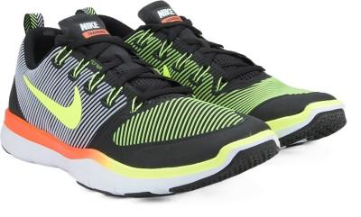 Nike FREE TRAIN Training & Gym Shoes For Men(Black, Orange) 1