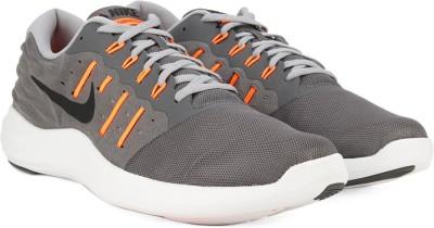 Nike LUNARSTELOS Running Shoes For Men(Grey, Orange, Black) 1