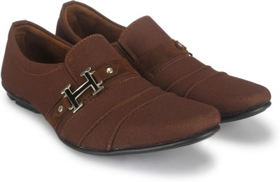 Footista H Party Wear For Men Brown Footista Casual Shoes