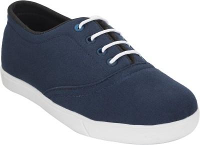Advin England Blue lace Canvas Shoes For Women(Blue)