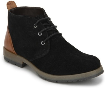 Arden Crouch Chukka Boots For Men(Black, Tan)