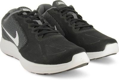 Nike REVOLUTION 3 Running Shoes For Men(Black, White) 1
