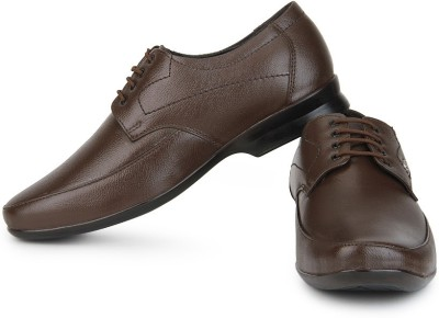 Provogue Leather Lace Up shoes(Brown) at flipkart