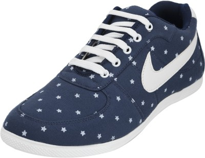 Advin England Blue White Star Canvas Shoes For Women(Blue, White)