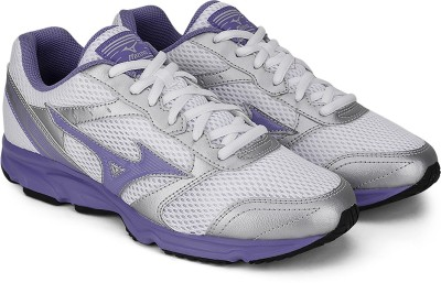 Mizuno Maximizer 18 Running Shoes(White, Grey, Purple) at flipkart