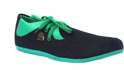 Sukun 9057_BKG Casual Shoes For Men(Black, Green)  available at flipkart for Rs.999
