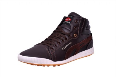 West Code West Code Men`s Synthetic leather casual Shoes 801-Brown-10 Casuals For Men(Brown)