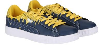 Puma Basket City DP Sneakers(Blue, Yellow) at flipkart
