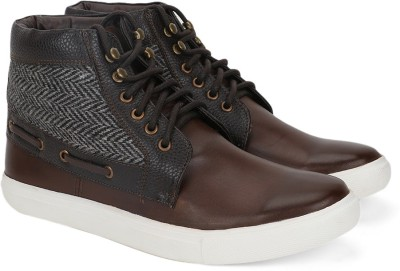 Provogue Mid ankle sneakers(Brown) at flipkart