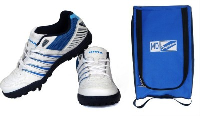 Nivia Caribbean + MD Bag Cricket Shoes For Men(White)  available at flipkart for Rs.1499