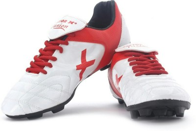 Vector X Fusion White Red football shoes and studs Football Shoes For Men(White, Red)  available at flipkart for Rs.495