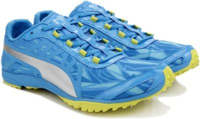 Puma Haraka XCS v2 Men Running Shoes For Men(Blue, Silver, Cloisonne-puma silver