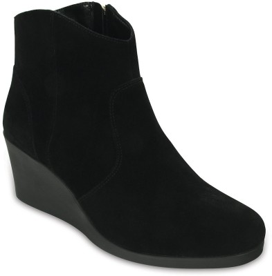 Crocs Women Black Wedges at flipkart