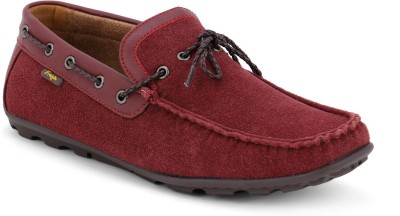 Froskie Boat Shoes For Men(Burgundy)