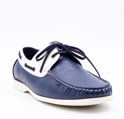 Belle Gambe Boat Shoes For Men(Blue)