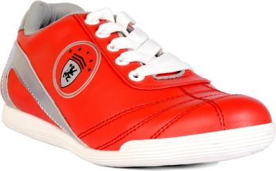Sam Stefy Canvas Shoes For Women(Red) at flipkart