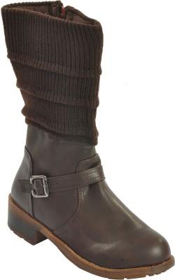 Shuberry Boots(Brown) at flipkart