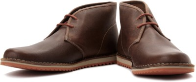 Clarks Maxim Top Boots For Men(Orange, Brown, Tobacco leather