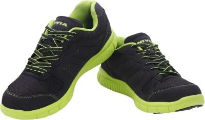 Nivia Yorks Running Shoes For Men(Black, Green)  available at flipkart for Rs.1059