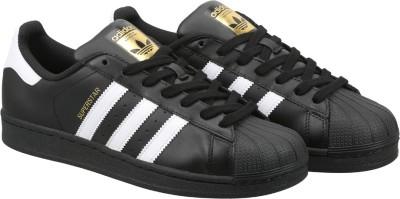 Adidas Originals SUPERSTAR FOUNDATION Sneakers(Black) at flipkart