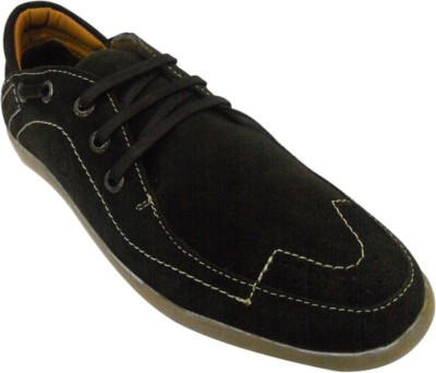 JK Port Brown Leather Casual Shoe Casuals(Brown) at flipkart