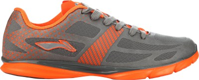 Li-Ning Star-Ace Casual Shoes For Men(Orange, Grey) at flipkart