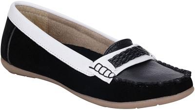 Mappy Gudiya Loafers For Women(White, Black) at flipkart