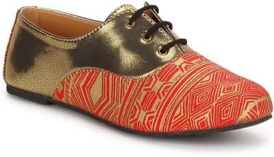 Chalk Studio Aurum - Venetian Red - Oxford Lace Ups Casuals For Women(Red)