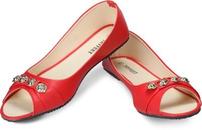 Tryfeet Red Open Toe Bellies For Women(Red)