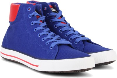 Nivia Mid Ankle Sneakers For Men(Red, Blue, White)