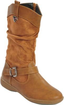 Shuberry Boots(Tan) at flipkart