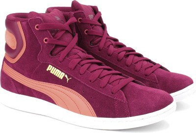Puma Vikky Mid Sneakers For Women(Purple) at flipkart
