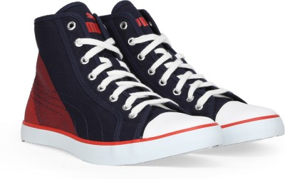 Puma Streetballer Mid Geo DP Mid Ankle Sneakers For Men(Blue, Maroon, White)
