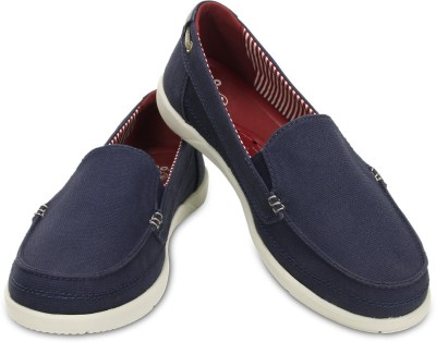 Crocs Walu Canvas Loafers For Women(Blue) at flipkart