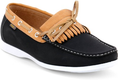 Froskie Boat Shoes For Men(Black)