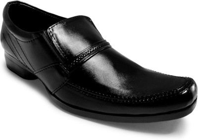 Activa Faux Leather Slip On Shoes For Men(Black)